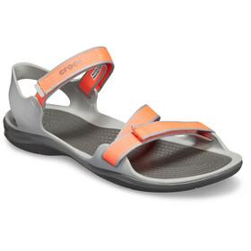 Crocs Swiftwater Sandaler Damer, bright coral/light grey